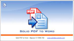 Solid PDF to Word 10.1.11518.4526