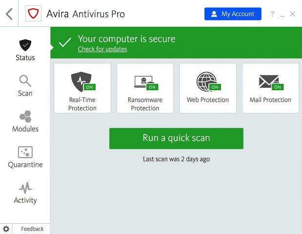 Avira Antivirus Pro Crack + License Key 2021 [LATEST]
