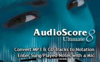 AudioScore Ultimate 2018.7 v8.9.1 Crack