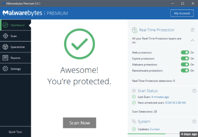 Malwarebytes 3.5.1 Crack Free Download