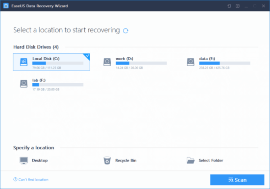 EASEUS Data Recovery Wizard Professional Crack