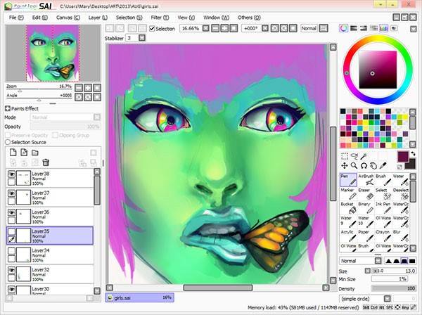 Paint Tool SAI 2 Crack With Keygen Torrent Full Download