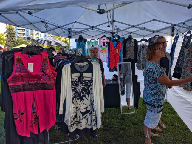 Calgary Night Market clothing tent 1