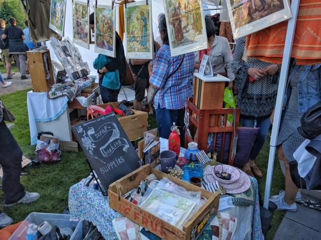Calgary Night Market tent vendor stuff