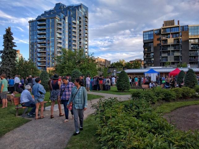 Calgary Night Market view
