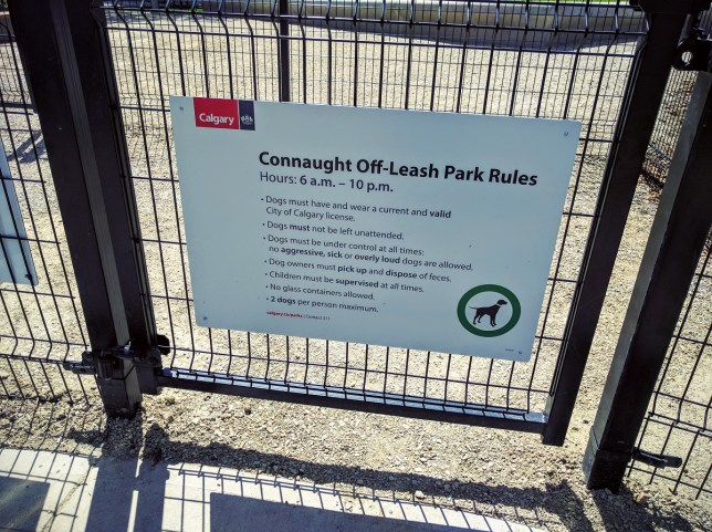 Connaught Dog Park Rules