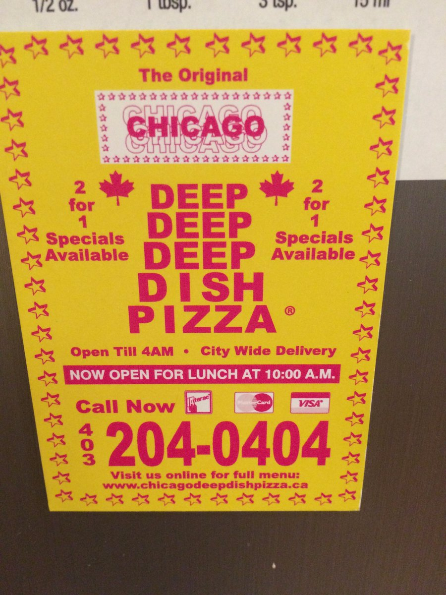 Chicago Deep Dish Pizza Flyer