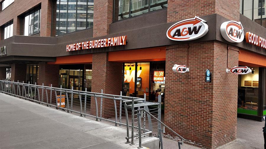 A&W Downtown Calgary