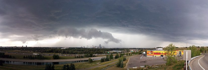 Haunted Places in Calgary scary storm