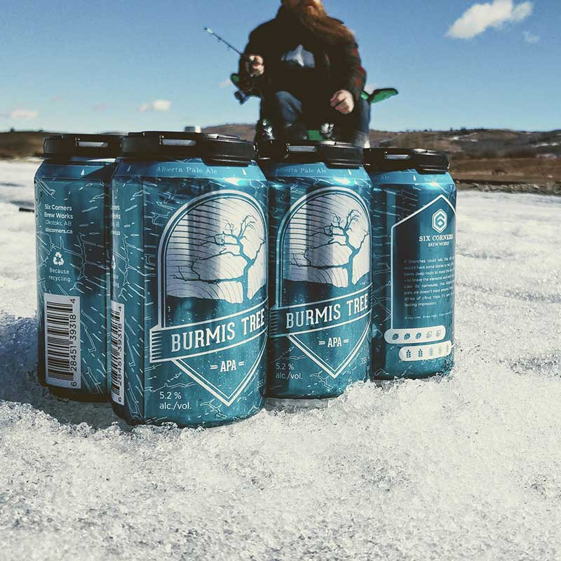 Ice Fishing snack bring beer with you to drink