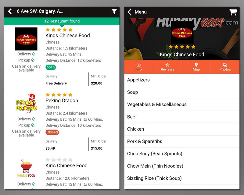 Food delivery services Calgary Hungry Eats