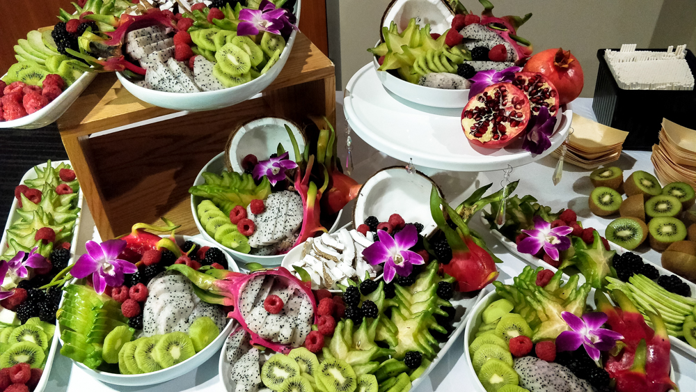 Half Your Plate Chefs Dinner beautiful dragonfruit spread winsport