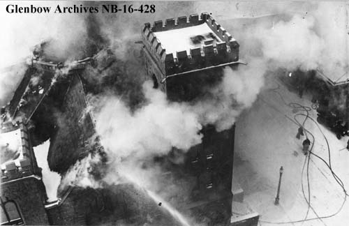 Historical Calgary Church Fire