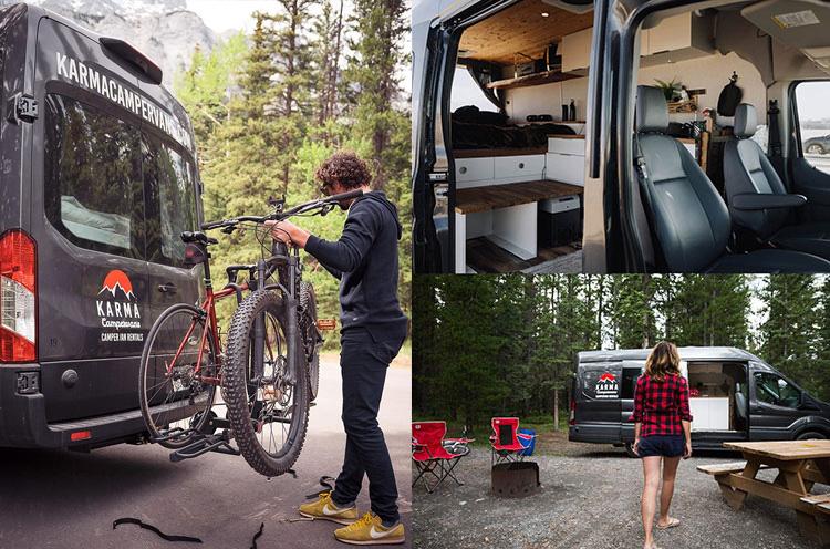 Karma Campervans mountain bikes