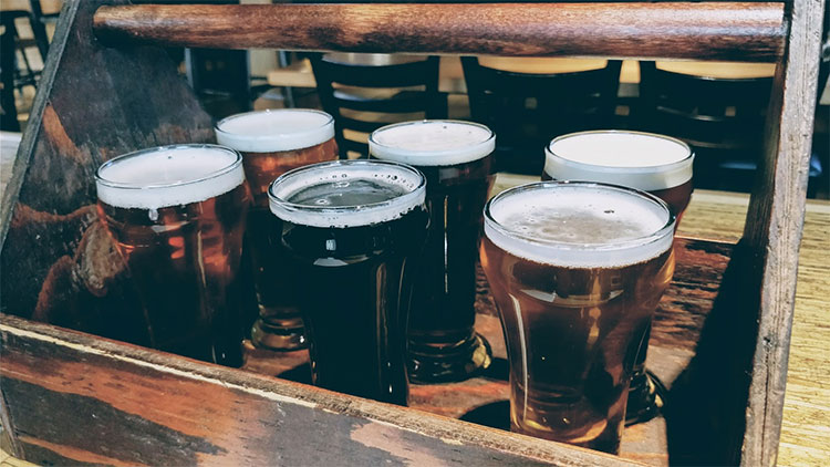 Banff Without A Car Flight of beer