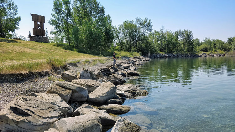 Fishing Glenmore Reservoir Heritage Park