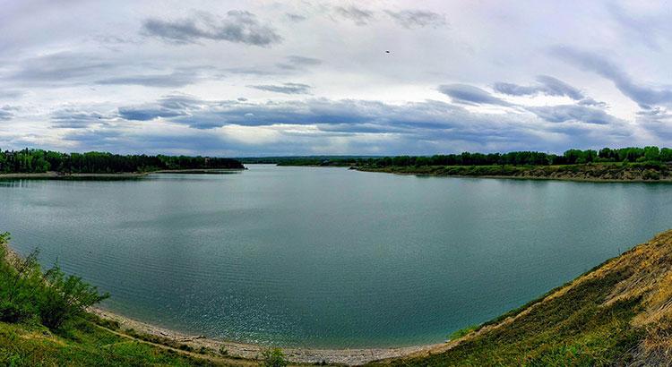 Fishing Glenmore Reservoir panorama