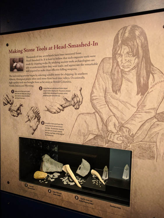 Head-Smashed-In Buffalo Jump Tools Exhibit