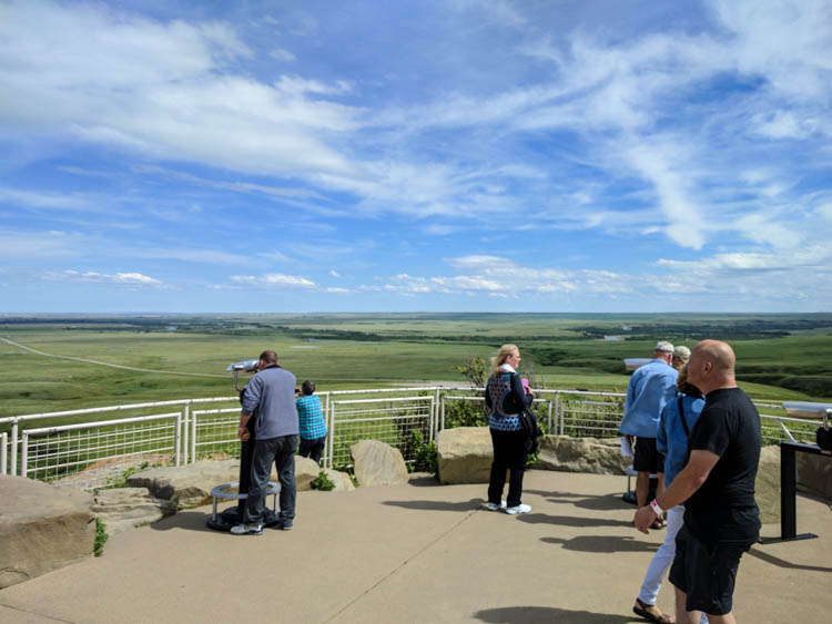 Head-Smashed-In Buffalo Jump Viewpoint Deck Outside