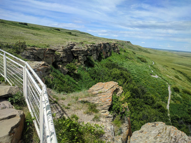 Head-Smashed-In Buffalo Jump Hill