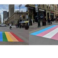 The LGBTQ+ Rainbow & Trans Flag Crosswalks In Calgary