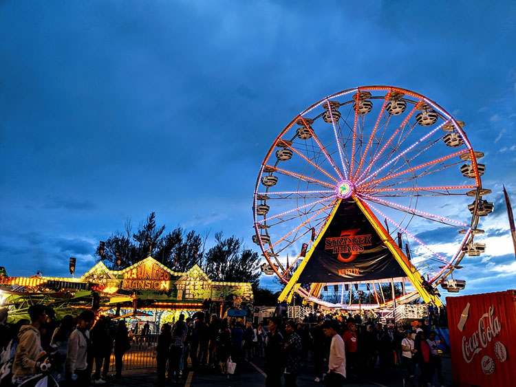 Stranger Things Calgary Stampede Ferris Wheel