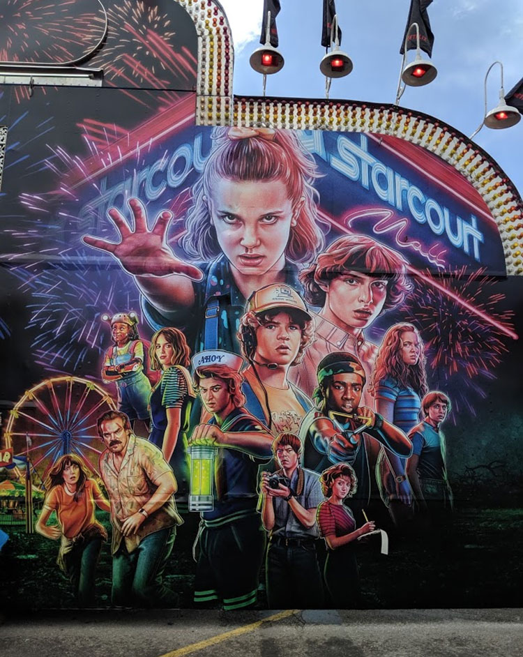 Stranger Things Calgary Stampede Painting