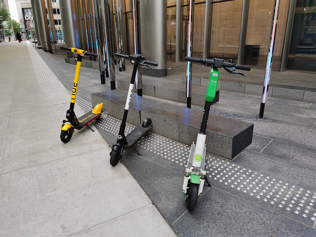 Bird, Lime and Roll Electric Scooters in Calgary