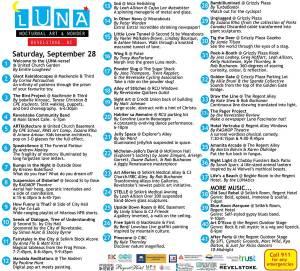 LUNA Art Festival map