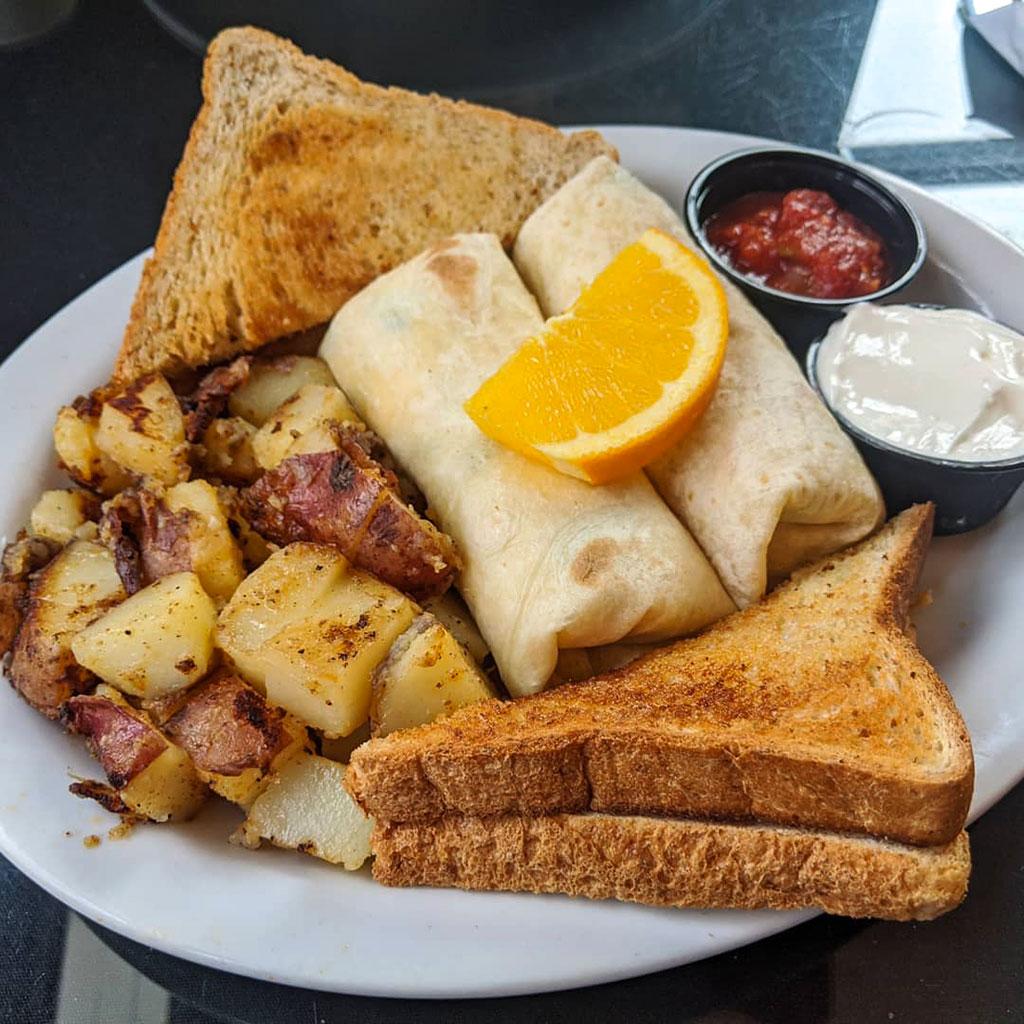 1886 Buffalo Cafe Menu Breakfast Burritos