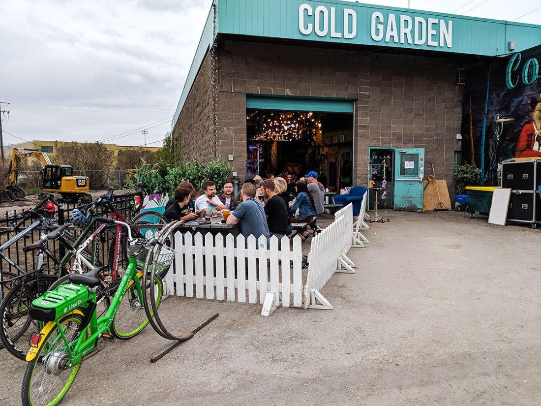 Cold Garden Beverage Company outdoor patio