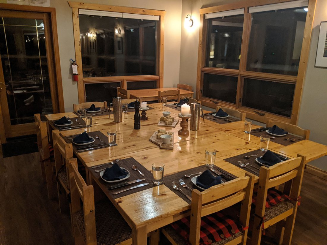 Mount Engadine Lodge family style dinners