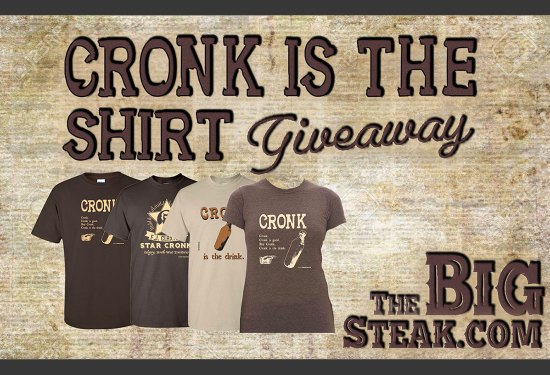 Win a Cronk t-shirt! Cronk is good.
