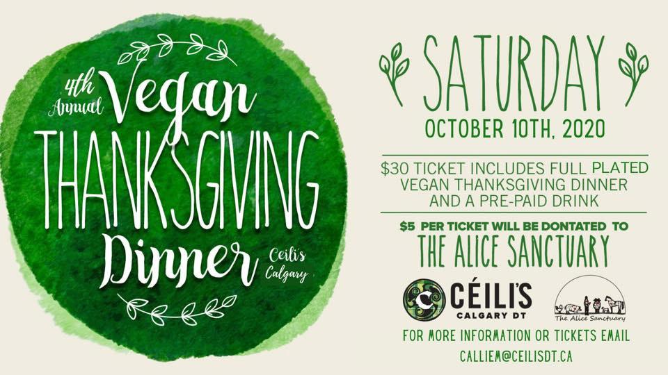 Ceili's downtown Vegan Thanksgiving dinner