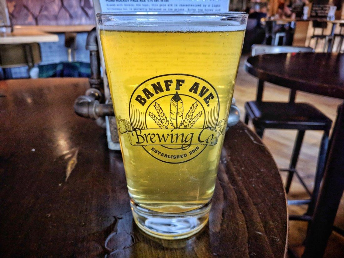 Banff Craft Beer Week Contest Banff Ave Brewing Company Pint
