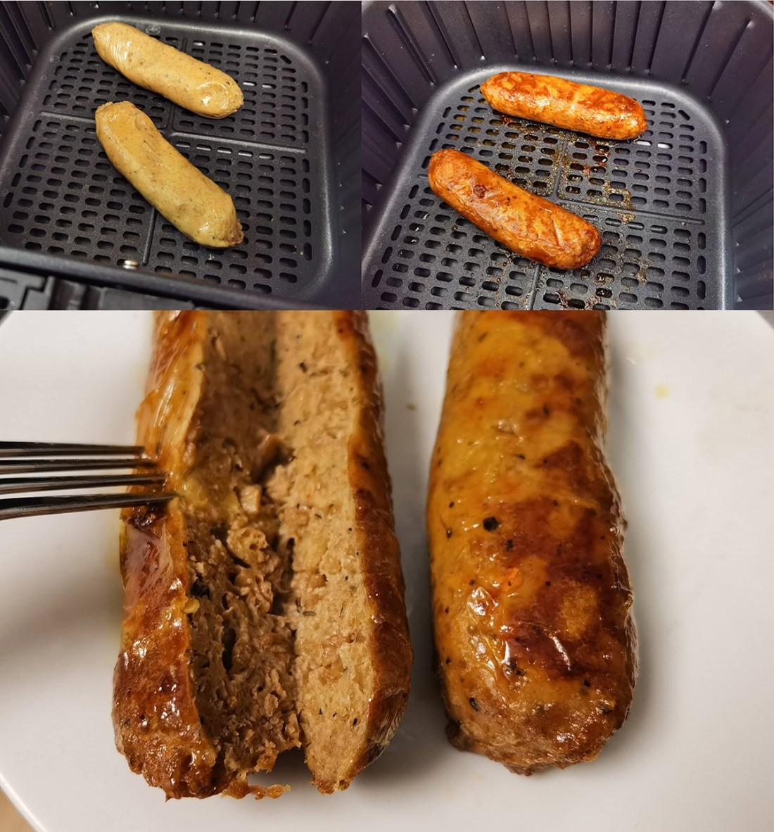 Review: COSORI 5.8QT Air Fryer From Amazon Beyond Meat Sausages