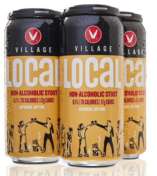 Village Brewery Non-Alcoholic Stout 70 calories 17g carbs
