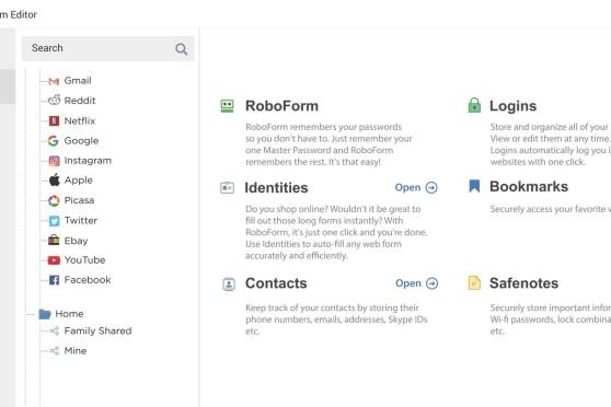 RoboForm 9.1.3.3 Crack + Keygen (Mac & Win) 2021 Lifetime