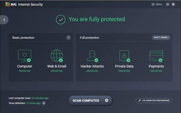 AVG Internet Security 2021 21.3.3174 Crack + Product Key Full Free