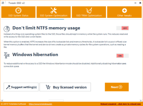 Tweak SSD Alternavtive