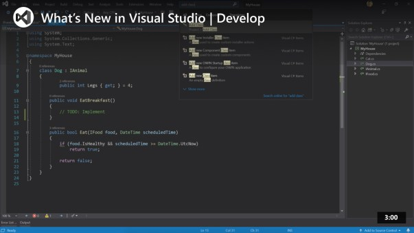 Microsoft Visual Studio Screenshot 2