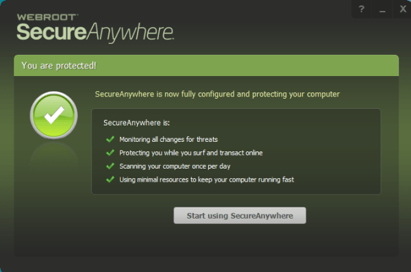 Webroot Secureanywhere Antivirus Screenshot 1