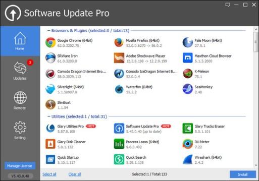 Glarysoft Software Update Pro 5.4 Screenshot 1