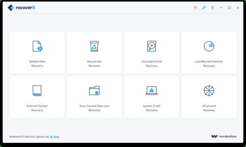Wondershare Data Recovery 6.6 Screenshot 1