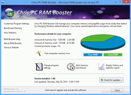 Chris-PC RAM Booster 5.20.20 Crack With Activation Code Download