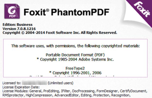 Foxit PhantomPDF 10.0.1.35811 Crack + Activation Key (Free)