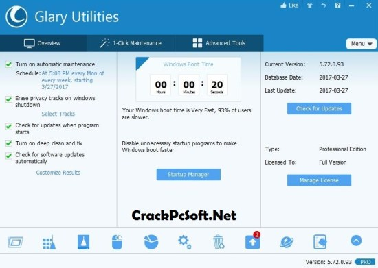 Glary Utilities Pro 5 Full Crack
