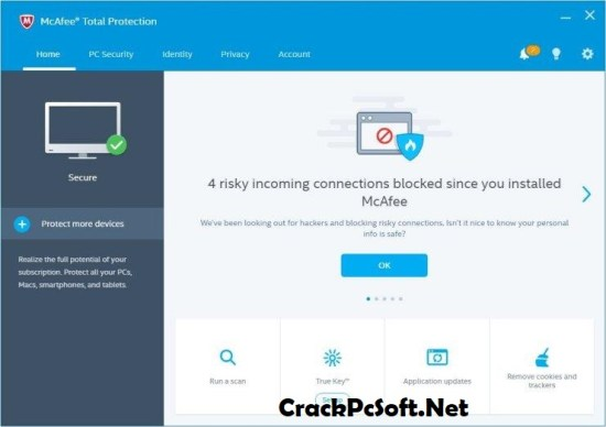 McAfee Total Protection 2018 Serial Key