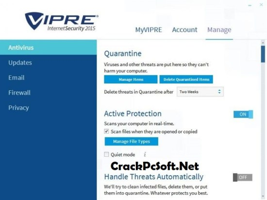 VIPRE Internet Security 2018 Crack
