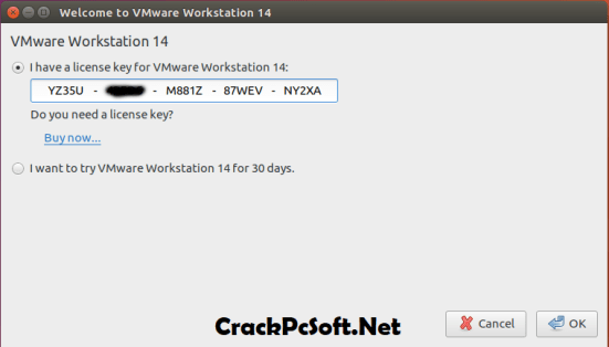 VMware Workstation 14 License Key